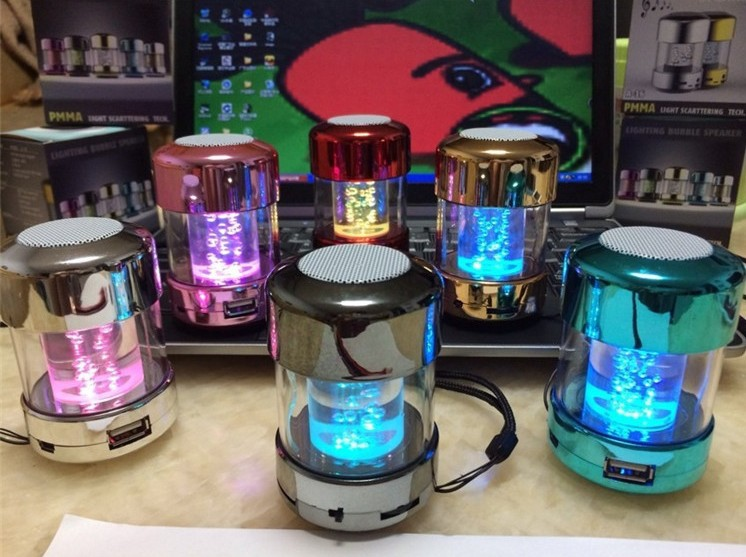 Hot sale LED colorful water dancing column speaker with tf card