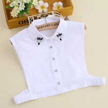 High Quality Stylish Half Shirt Detachable Fake Lace White Shirt Collar Designs