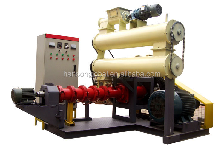 250-400kg hourly automatic floating fish feed pellet machine/ blood meal animal feed fish feed