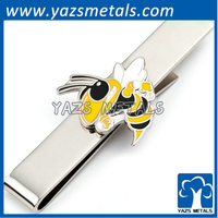 brushed honeybee tie clip animal theme