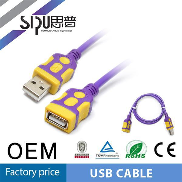 SIPU high quality 16pin obd2 to usb cable 2.0 round