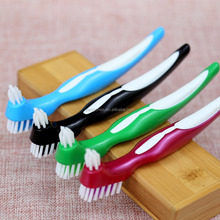 good quality double sided Toothbrush for dentures cleaning /false teeth brush