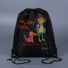 personalized sports polyester drawstring bag