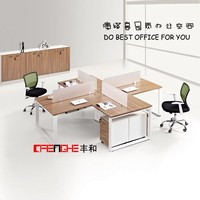 4 seats open workstation elegant office furniture desk