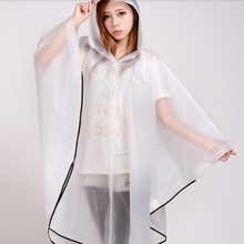 Wholesale Hot Selling 100% Waterproof Reusable EVA Rain Poncho for Adult