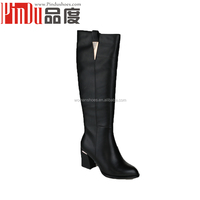 PDB043 Genuine leather over the knee rubber woman fashion boot