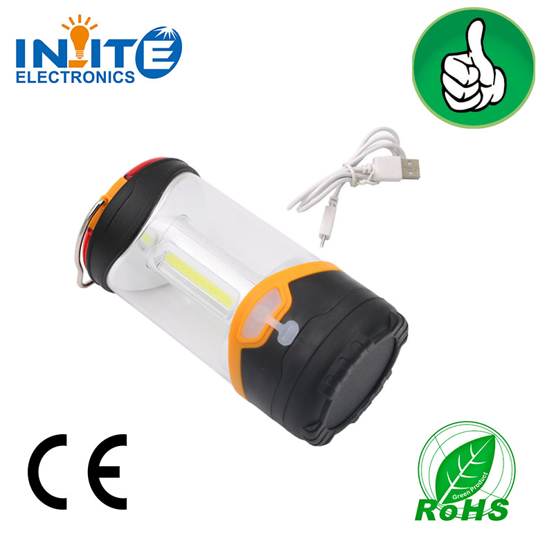 Alibaba products for COB led battery operated or USB recharge LED camping lamp tent work light
