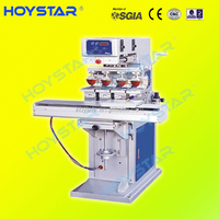 GW-M4/S 4 color big size plastic panel tampography pad printing machine with shuttle worktable for sale