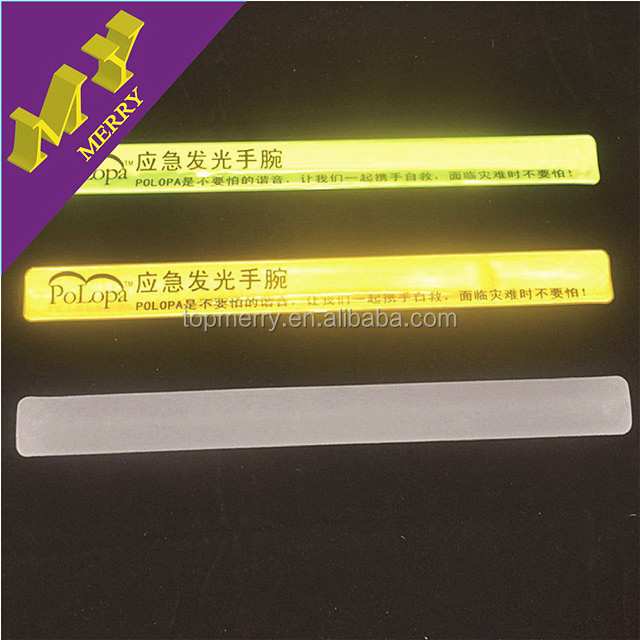 Made in China reflective silicone slap bracelet wholesale