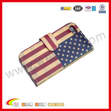 Popular flag pattern leather case custom printed for iphone6 case