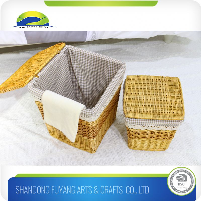 Hand Made Art Craft Collapsible Dirty Washing Basket