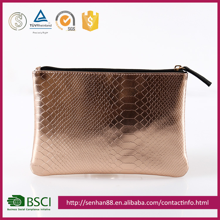 cheap price gold Support ODM OEM metal PU T/C evening functional bags hot high quality travel hanging cosmetic bag