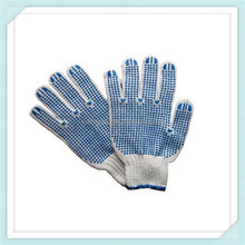 safety string knitted cotton work gloves cheap price cotton gloves,pvc dotted cotton safety knitted work gloves