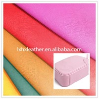 bright color Lichee microfiber leather for bags DH072