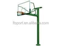 Outdoor Fixed Height Basketball Pole(glass backboard--3.05m)