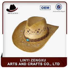 Short brim straw western cowboy hat bands