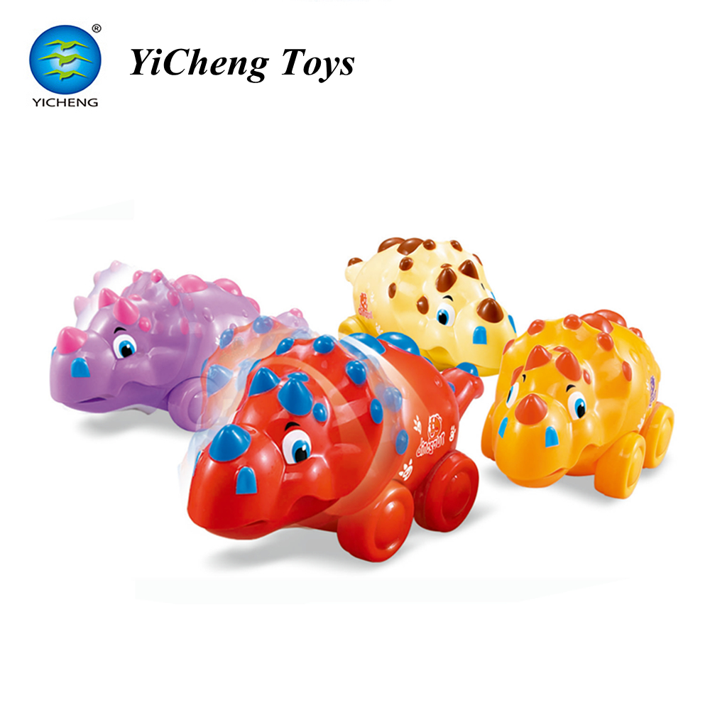 wholesale go friction powered toy triceratops dinosaur style free wheel toy