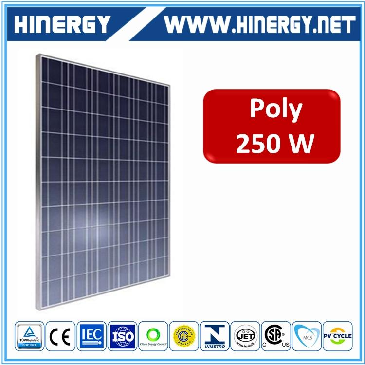 China manufacturer 250w 260w 24v solar module 25year waranty polycrystalline 250w solar panel korea for solar water pump