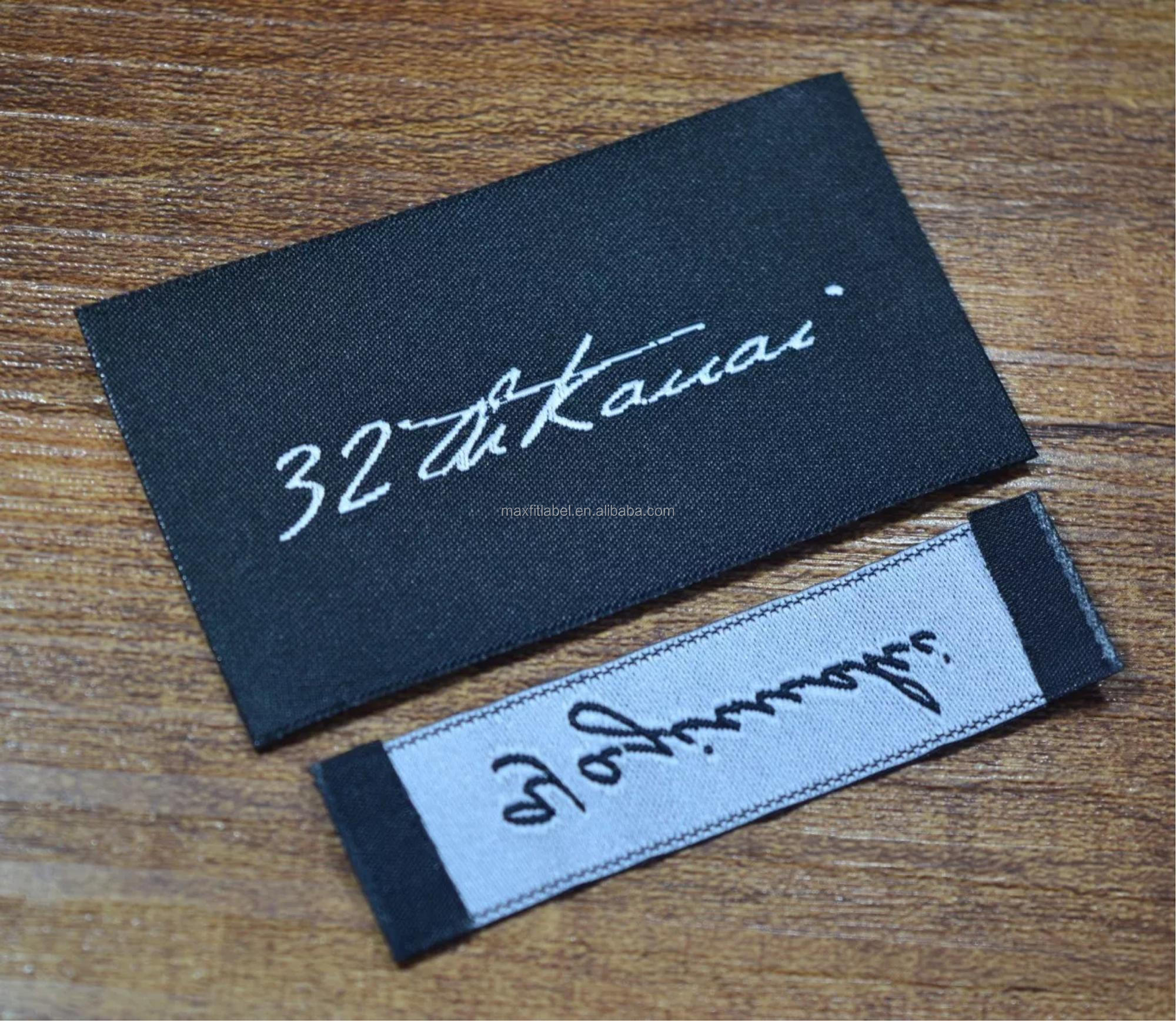 China factory custom high quality woven label clothing labels