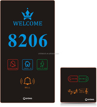 ORBITA Hotel electronic doorplate with hotel touch doorbell systems