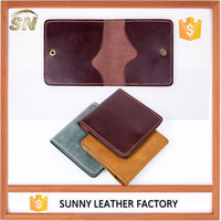 small leather gifts wholesale card holder bifold leather card case
