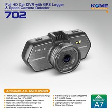 hot kome 702 hd car camera kit dvr amba digital car video recorder mini dash cam ambarella a7 secure-eye-cctv-cameras new 2014