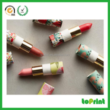 empty lip balm containers recycled lipstick paper tube round shape rigid deodorant stick paper