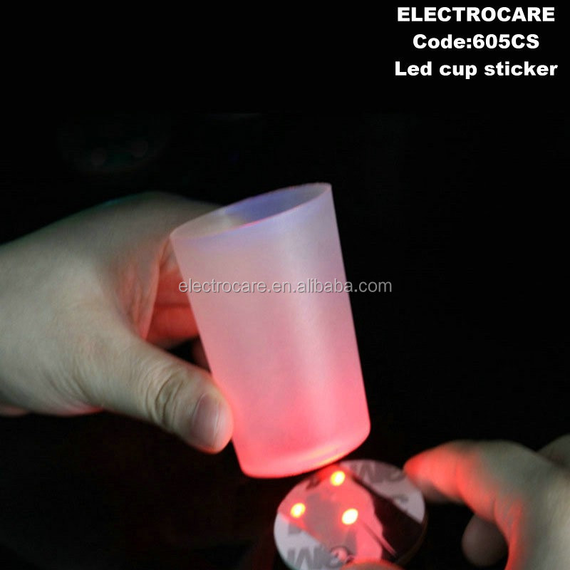 led bottle sticker led cup sticker 605CS led cup coaster and glow coaster for cup