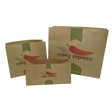 alibaba china custom food grade french fry holder brown kraft paper delivery bag