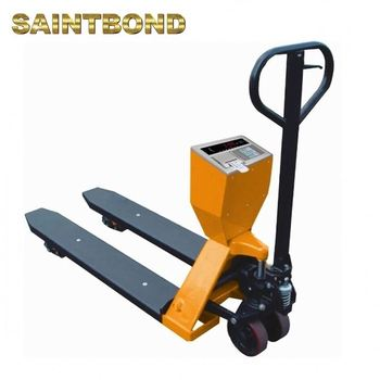 All used pallet trolley jack with load scales low profile rough terrain weigh scale pallet truck
