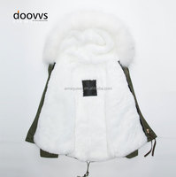 White short rabbit fur collar fur coat, high quality russian fake fur liner warm coat ,white fur collar ladies cape coatWhite sh