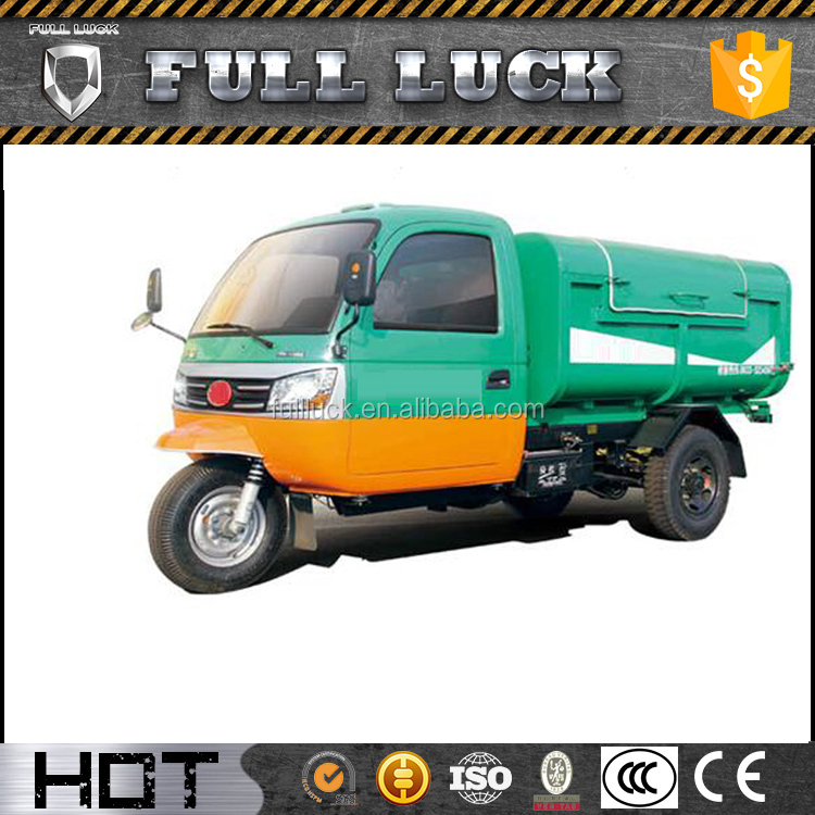 Quality-Assured cargo garbage tricycle diesel with hydraulic lifter