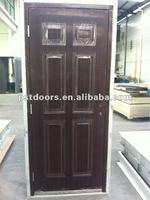 prehung steel door ,european style interior doors,steel panel door with frame including Aluminium threshold