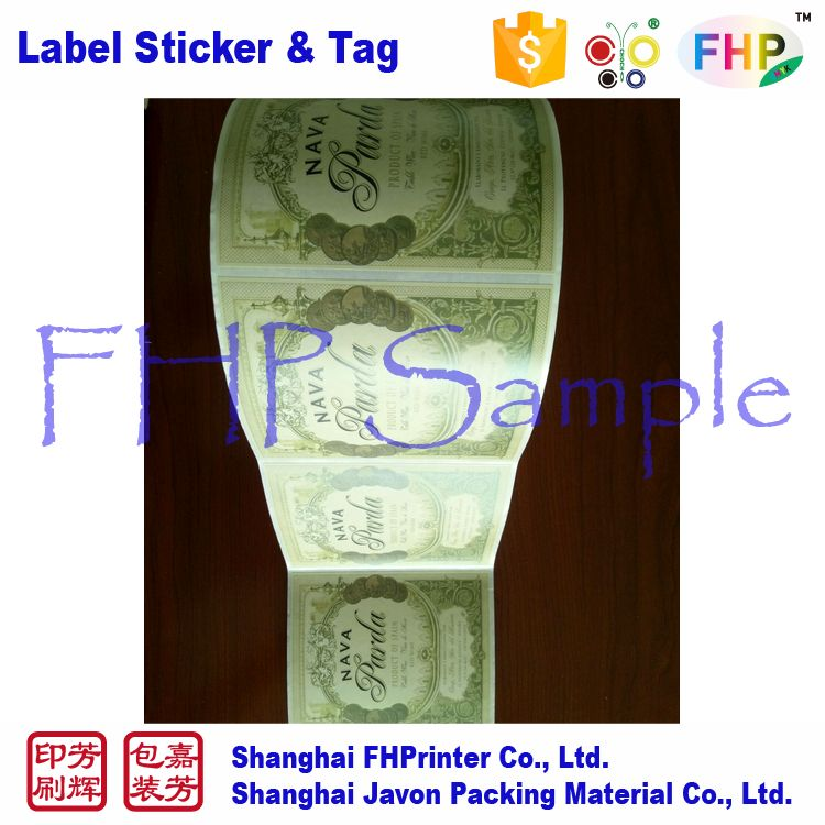 China factory price durable textured sticker paper wine label size