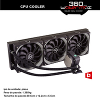 Alseye AA0324 manufacture china suppliers 360mm complete watercooling 120x120x25mm fan Computer cooler