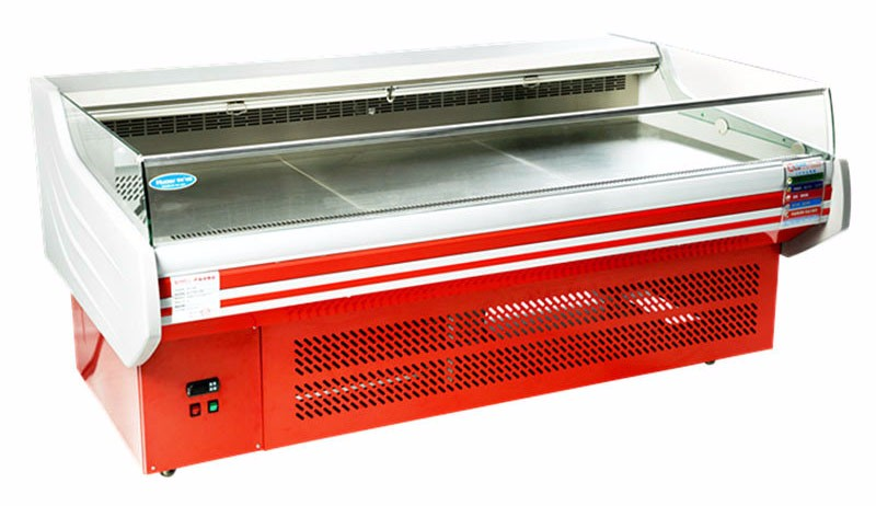 China supplier Fan cooling meat display cabinet Voltage 220V/380v fish display counter for sale
