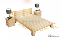 SJBED1707 Commercial Paint Pine solid wood Bed