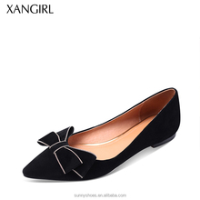 Global selling fashion western style pointed toe ladies flat shoes