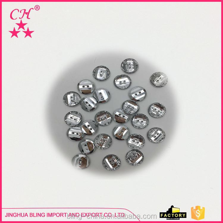 Factory Direct Sale Rhinestone Button Acrylic Stones Decorative Rhinestone Buttons