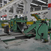 Overseas service available automatic cnc cut to length shearing cutting machine with coil winding machine