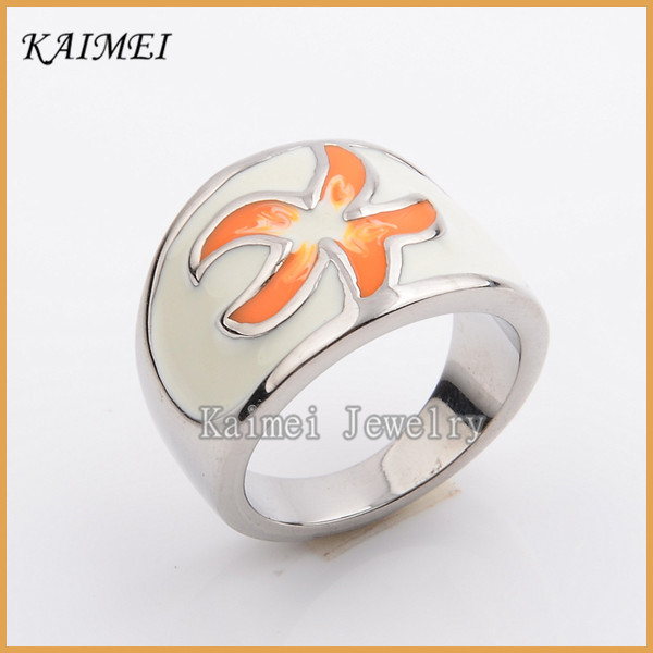 New Style Fashion Jewelry Stainless Steel High Quality Enamel Fancy Boys Silver Rings