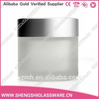 30g 50g frosted cosmetic glass jar or glass bottle for horse oil with cap