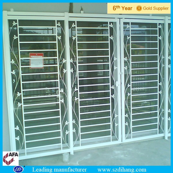 Window grill security iron window grill panelsmetal for Window bars design