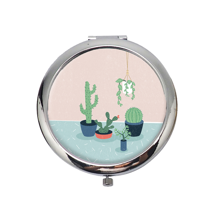 HX-7032 metal mini handicraft mirror,mini purse mirror,decorative metal framed mirror