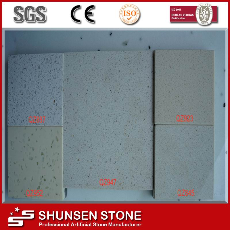 Hot Selling Polyester Resin Engineered Artificial Quartz Stone Slab