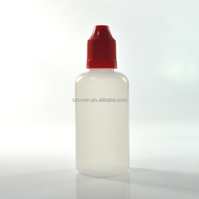 50ml PE plastic drip bottle with a black childproof screw cap