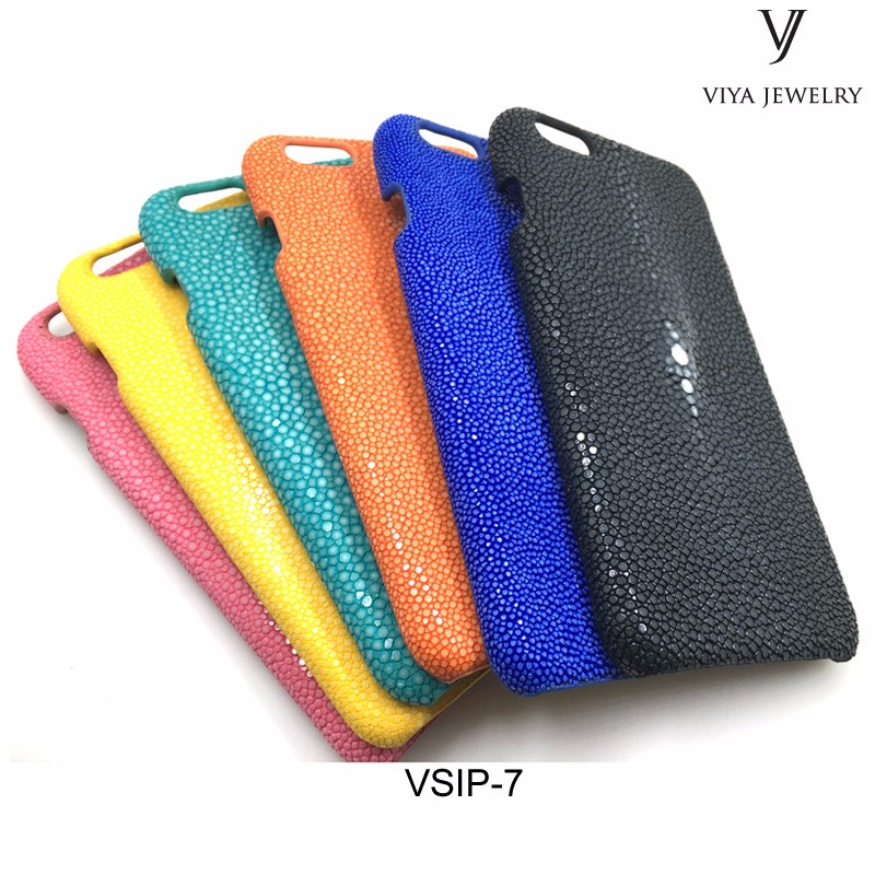 Viya Luxury Genuine Leather Case For Phone 7 7S Plus Ultra stingray leather Mobile Phone Back Cover For phone 7 plus case