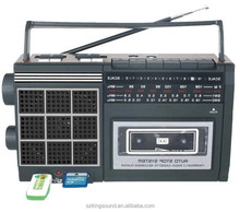 Usd sd card cassette radio with built-in speaker