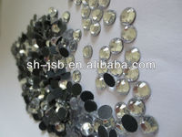 hot-fix rhinestone glass beads flat back with glue for garment accessories