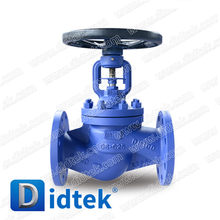 Didtek DN50 PN40 Flange End GS C25 Material Double Seal Design Bellows and Fill DIN Bellow Globe Valve